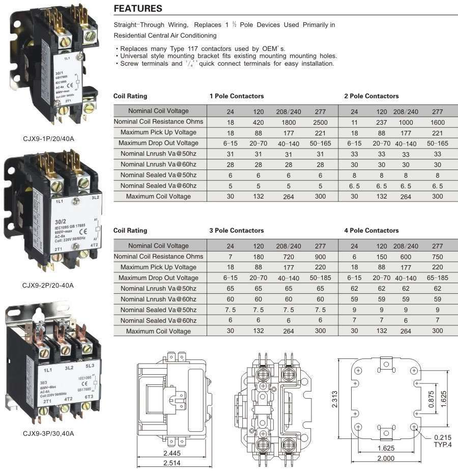 Air Conditioner Contactor Wiring Diagram - Wiring Solutions